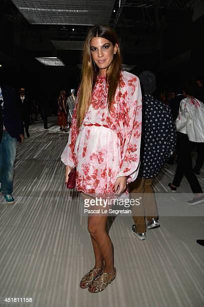 Bianca Brandolini d'Adda attends the Giambattista Valli show as part of Paris Fashion Week Haute Couture Fall/Winter 20142015on July 7 2014 in Paris...