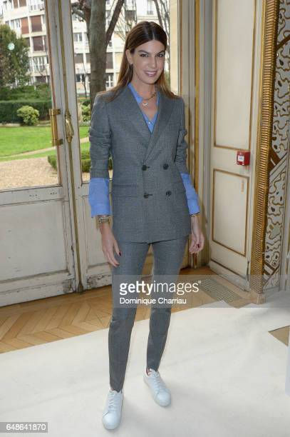 Bianca Brandolini d'Adda attends the Giambattista Valli show as part of the Paris Fashion Week Womenswear Fall/Winter 2017/2018 on March 6 2017 in...