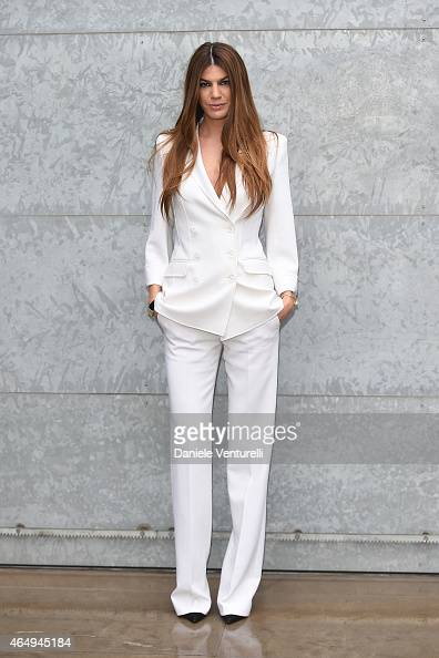 Bianca Brandolini D'Adda attends the Giorgio Armani show during the Milan Fashion Week Autumn/Winter 2015 on March 2 2015 in Milan Italy