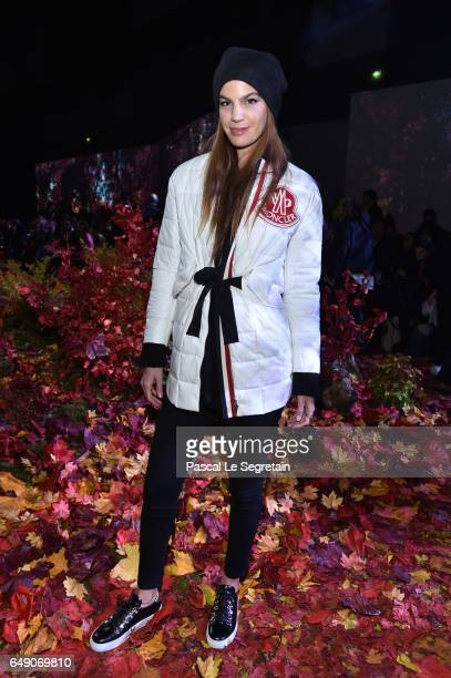 Bianca Brandolini d'Adda attends the Moncler Gamme Rouge show as part of the Paris Fashion Week Womenswear Fall/Winter 2017/2018 on March 7 2017 in...