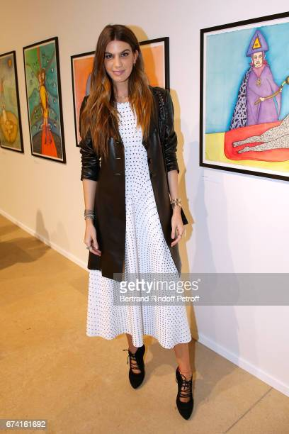Bianca Brandolini d'Adda attends the 'pascALEjandro L'Androgyne Alchimique' Exhibition Opening at Azzedine Alaia Gallery on April 27 2017 in Paris...
