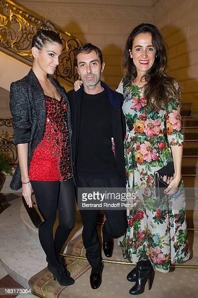 Bianca Brandolini d'Adda Giambatista Valli and Coco Brandolini d'Adda attend the 'CR Fashion Book Issue 2' Carine Roitfeld Cocktail as part of Paris...