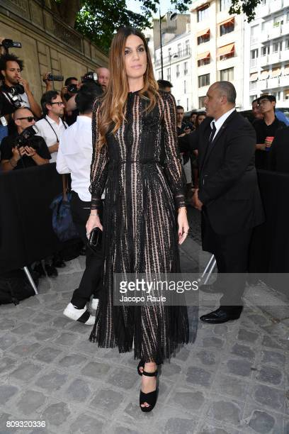 Bianca Brandolini D'Adda is seen arriving at Valentino fashion show during the Paris Fashion Week Haute Couture Fall/Winter 20172018 on July 5 2017...