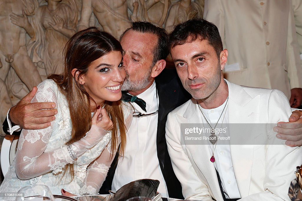 <a gi-track='captionPersonalityLinkClicked' href=/galleries/search?phrase=Bianca+Brandolini+d%27Adda&family=editorial&specificpeople=5507285 ng-click='$event.stopPropagation()'>Bianca Brandolini d'Adda</a>, Louis Benech and Gianbatista Valli attend 'Liaisons Au Louvre III' Charity Gala Dinner Hosted by American International Friends of Le Louvre at Cour Carree du Louvre on June 18, 2013 in Paris, France.
