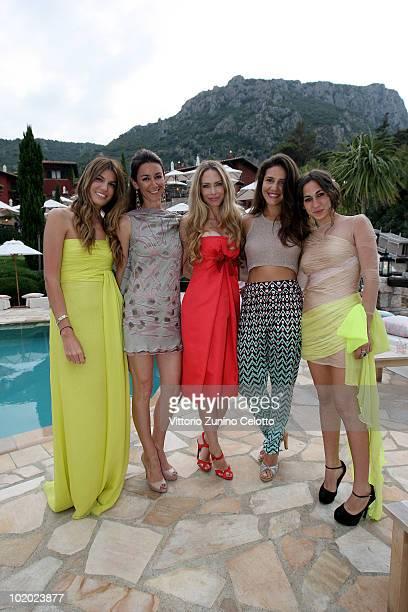 Bianca Brandolini D'Adda Marie Louise Scio Yvonne Scio Margherita Missoni and Delfina Delettrez Fendi attend chapter 2 of Il Pellicano 'Globetrotters...