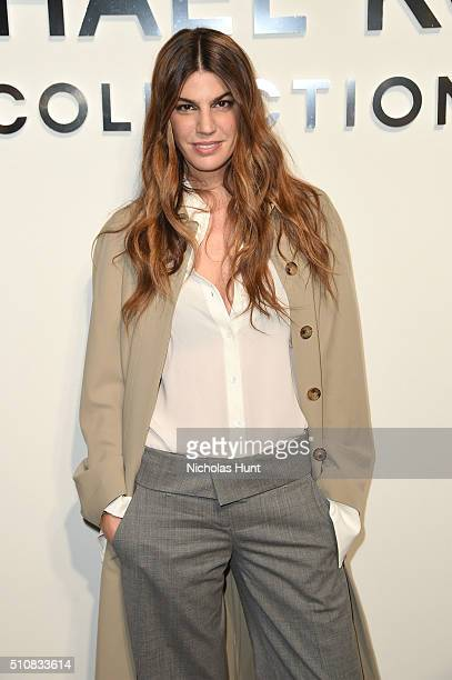 Bianca Brandolini D'Adda poses backstage at the Michael Kors Fall 2016 Runway Show during New York Fashion Week The Shows at Spring Studios on...