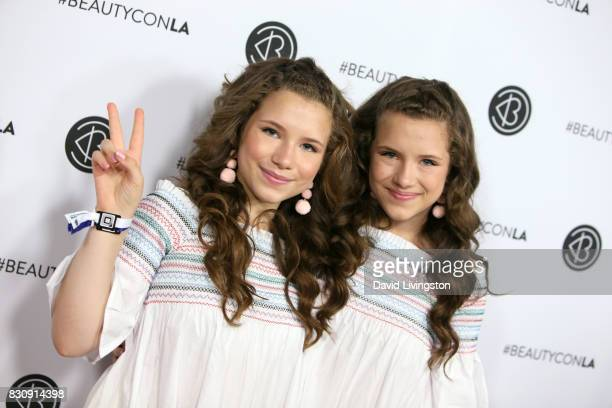 Bianca D'Ambrosio and Chiara D'Ambrosio attend Day 1 of the 5th Annual Beautycon Festival Los Angeles at the Los Angeles Convention Center on August...