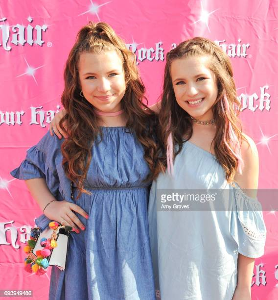 Bianca D'Ambrosio and Chiara D'Ambrosio attend Rock Your Hair Presents 'Rock Your Summer' Party and Concert on June 3 2017 in Los Angeles California