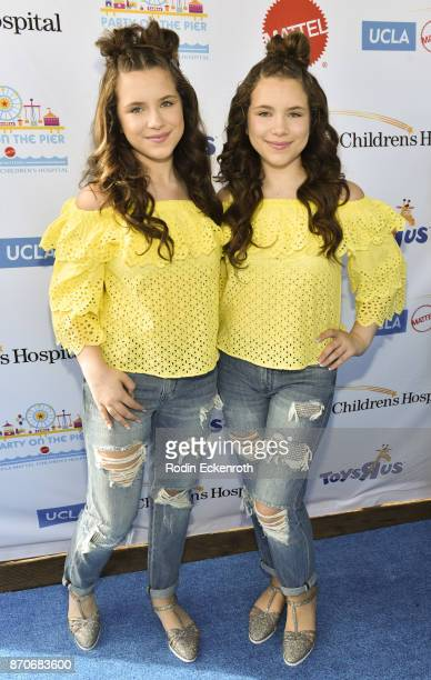 Bianca D'Ambrosio and Chiara D'Ambrosio attend the 18th Annual Mattel Party on the Pier at Pacific Park on Santa Monica Pier on November 5 2017 in...