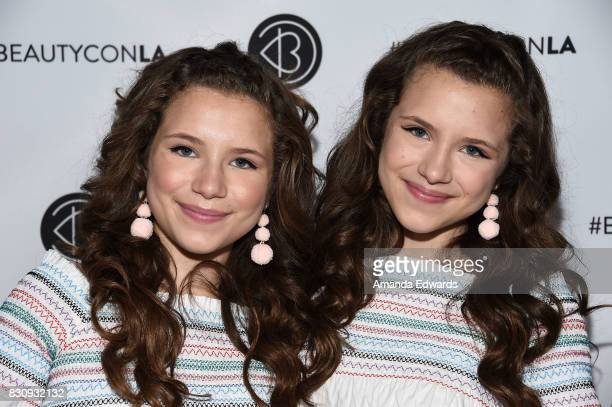 Bianca D'Ambrosio and Chiara D'Ambrosio attend the 5th Annual Beautycon Festival Los Angeles at the Los Angeles Convention Center on August 12 2017...