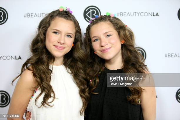 Bianca D'Ambrosio and Chiara D'Ambrosio attendDay 2 of the 5th Annual Beautycon Festival Los Angeles at the at Los Angeles Convention Center on...