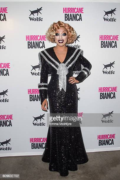 Bianca Del Rio attends the premiere of Wolfe Releasing's 'Hurricane Bianca' at The Renberg Theatre on September 21 2016 in Los Angeles California