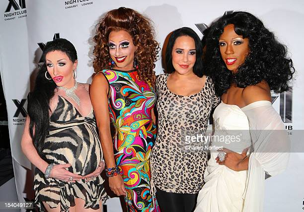 Bianca Del Rio Nadya Suleman and Milan attend 'Octomom' Nadya Suleman Celebrity Roast at XL Nightclub on October 12 2012 in New York City