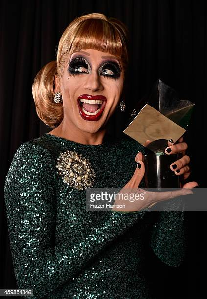 Bianca Del Rio poses for a portrait with the Best New Television Personality award at Logo TV's 2014 NewNowNext Awards at the Kimpton Surfcomber...