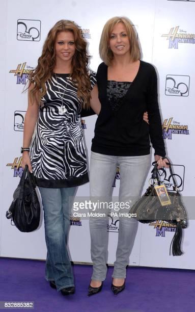 Bianca Gascoigne and her mother Sheryl Gascoigne arrive for Disney sensation Hannah Montana's debut UK gig at Koko in Camden north London