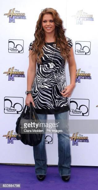 Bianca Gascoigne arrives for Disney sensation Hannah Montana's debut UK gig at Koko in Camden north London