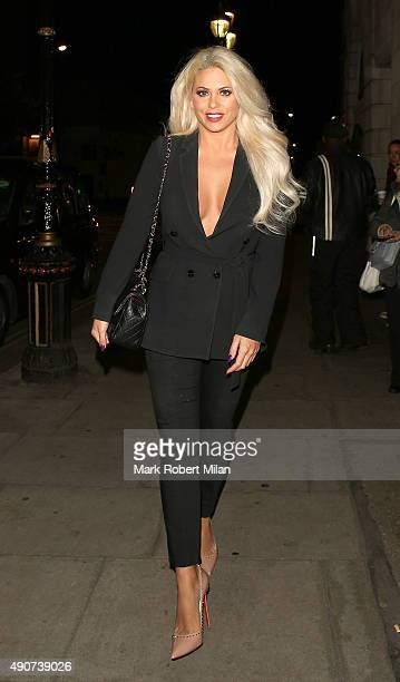 Bianca Gascoigne at the Reality TV awards on September 30 2015 in London England