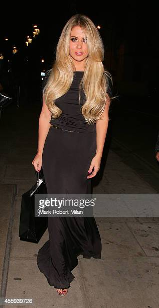 Bianca Gascoigne attending the Reality TV awards on September 22 2014 in London England