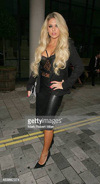 Bianca Gascoigne attending the Sin City 2 A Dame To Kill For UK special screening on August 20 2014 in London England