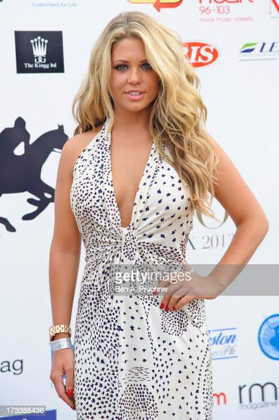 Bianca Gascoigne attends the Duke Of Essex Polo Trophy Grand Prix at Hylands Park on July 13 2013 in Chelmsford England