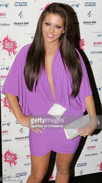 Bianca Gascoigne during BT Digital Music Awards Red Carpet Arrivals at The Waldorf Hilton Hotel in London Great Britain