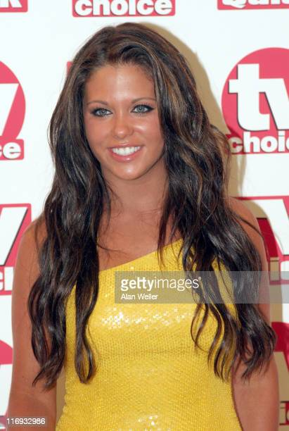 Bianca Gascoigne during TV Quick Awards TV Choice Awards Inside Arrivals at The Dorchester in London Great Britain