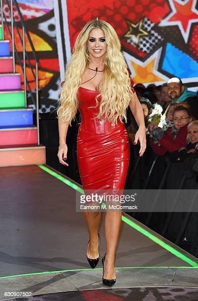 Bianca Gascoigne enters the Celebrity Big Brother House at Elstree Studios on January 3 2017 in Borehamwood England