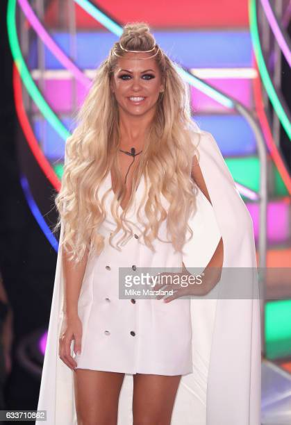 Bianca Gascoigne in 6th place leaves the Celebrity Big Brother house on February 3 2017 in Borehamwood United Kingdom
