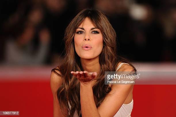 Bianca Guaccero attends the 'Il padre e lo stranie' premiere during The 5th International Rome Film Festival at Auditorium Parco Della Musica on...