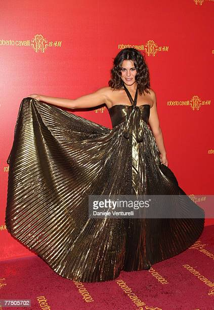Bianca Guaccero attends the Roberto Cavalli at HM collection launch party on October 25 2007 in Rome Italy