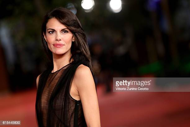 Bianca Guaccero walks a red carpet for 'Naples '44' during the 11th Rome Film Festival at Auditorium Parco Della Musica on October 18 2016 in Rome...