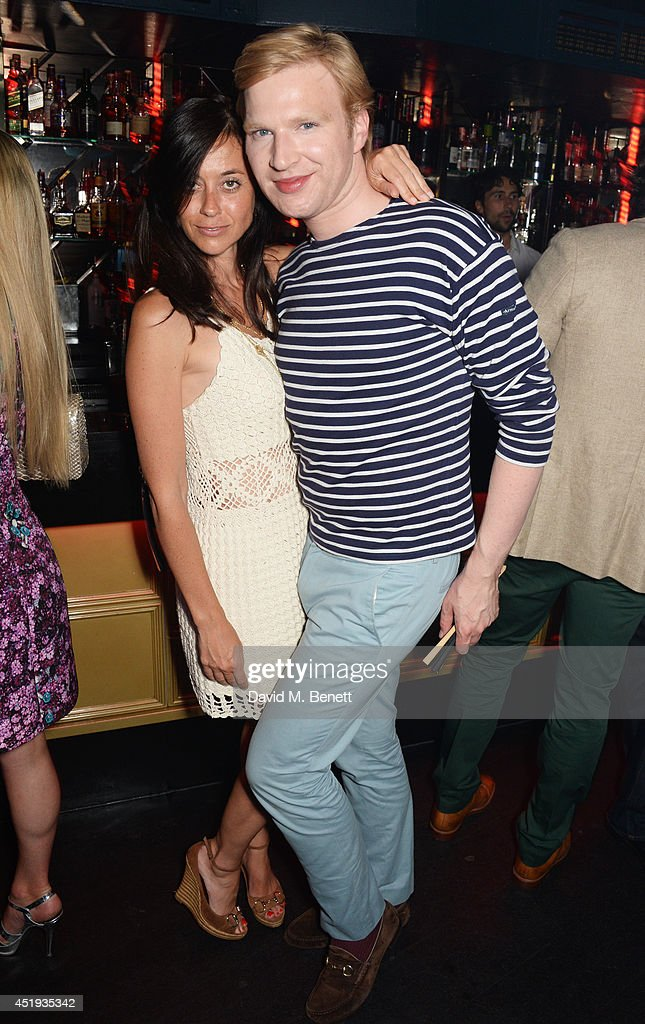 Bianca Hart (L) and Henry Conway attend Jo Wood and Yasmin Mill's Summer Party at Boujis on July 9, 2014 in London, England.