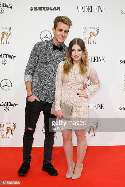Bianca Heinicke and Julian Claßen arrive at the Bambi Awards 2016 at Stage Theater on November 17 2016 in Berlin Germany