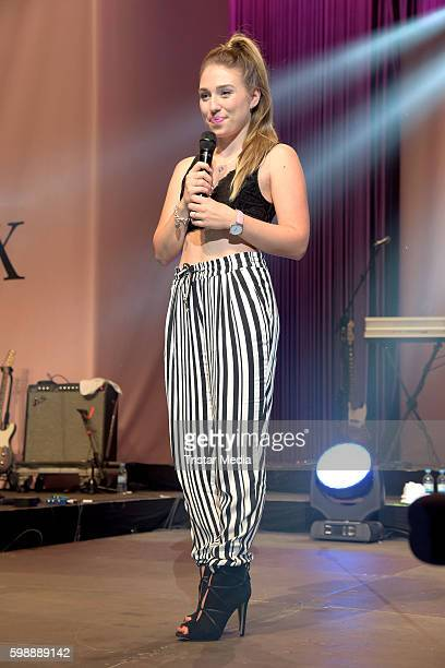 Bianca Heinicke performs at the 'Glossycon' on September 3 2016 in Berlin Germany