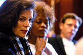 Bianca Jagger Alfre Woodard and Tony Goldwyn during The Creative Coalition's Private Briefing with Senator Barbara Boxer and Charlie Cook at...