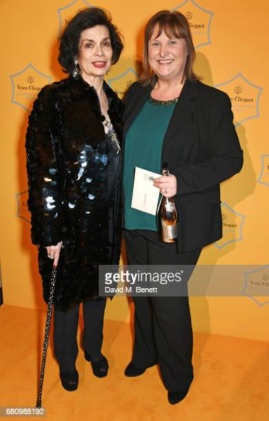 Bianca Jagger and Alison Brittain Whitbread CEO and winner of the Veuve Clicquot Business Woman Award attend the Veuve Clicquot Business Woman Awards...