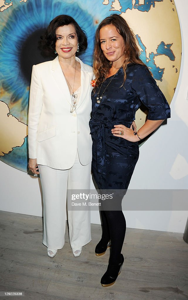 Bianca Jagger and Jade Jagger attend 'Arts For Human Rights' the inaugural Bianca Jagger Human Rights Foundation Gala supported by Swarovski at...
