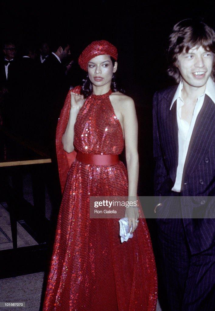 Bianca Jagger and Mick Jagger