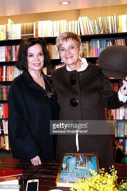 Bianca Jagger and Princess Gloria Von Thurn und Taxis attend Princess Gloria Von Thurn und Taxis signs her Book 'The House of Thurn und Taxis' Held...