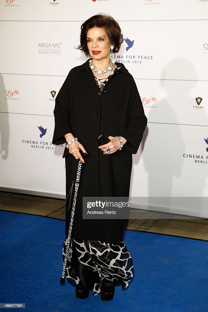 Bianca Jagger arrives for the Cinema For Peace 2014 - Gala at Konzerthaus Am Gendarmenmarkt on February 10, 2014 in Berlin, Germany.
