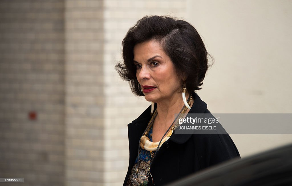 Bianca Jagger arrives for the 'Cinema for Peace' charity event on July 12, 2013 in Berlin. AFP PHOTO / JOHANNES EISELE