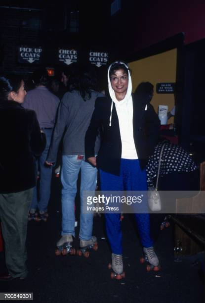 Bianca Jagger at a roller disco circa 1980 in New York City