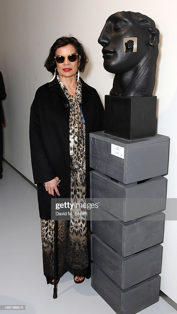 <a gi-track='captionPersonalityLinkClicked' href=/galleries/search?phrase=Bianca+Jagger&family=editorial&specificpeople=216047 ng-click='$event.stopPropagation()'>Bianca Jagger</a> attends a private view of works by master sculptor Igor Mitoraj to launch Contini Art UK, a new gallery opening on New Bond Street, on May 22, 2014 in London, England.