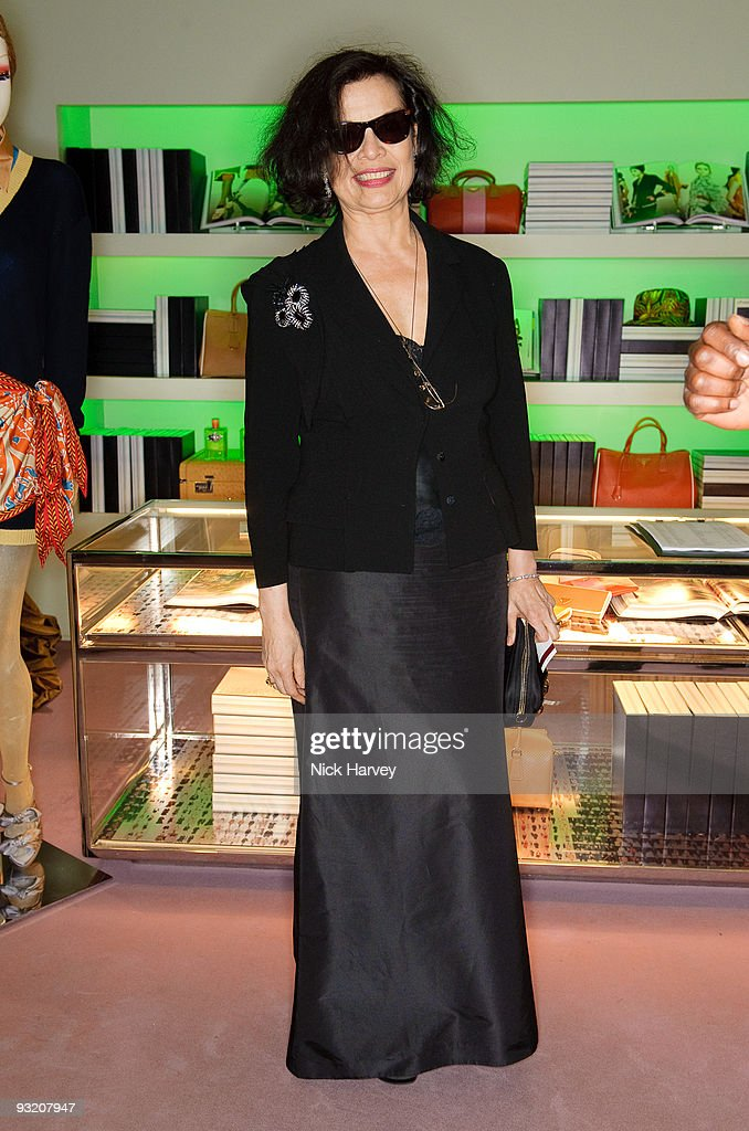 <a gi-track='captionPersonalityLinkClicked' href=/galleries/search?phrase=Bianca+Jagger&family=editorial&specificpeople=216047 ng-click='$event.stopPropagation()'>Bianca Jagger</a> attends party to celebrate launch of new Prada book on November 18, 2009 in London, England.