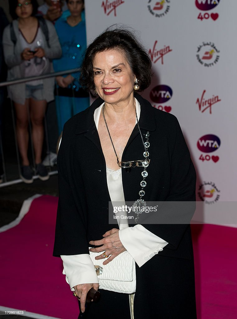 Bianca Jagger attends the annual pre-Wimbledon party at Kensington Roof Gardens on June 20, 2013 in London, England.