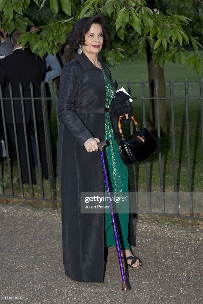 Bianca Jagger attends the annual Serpentine Gallery summer party at The Serpentine Gallery on June 26, 2013 in London, England.