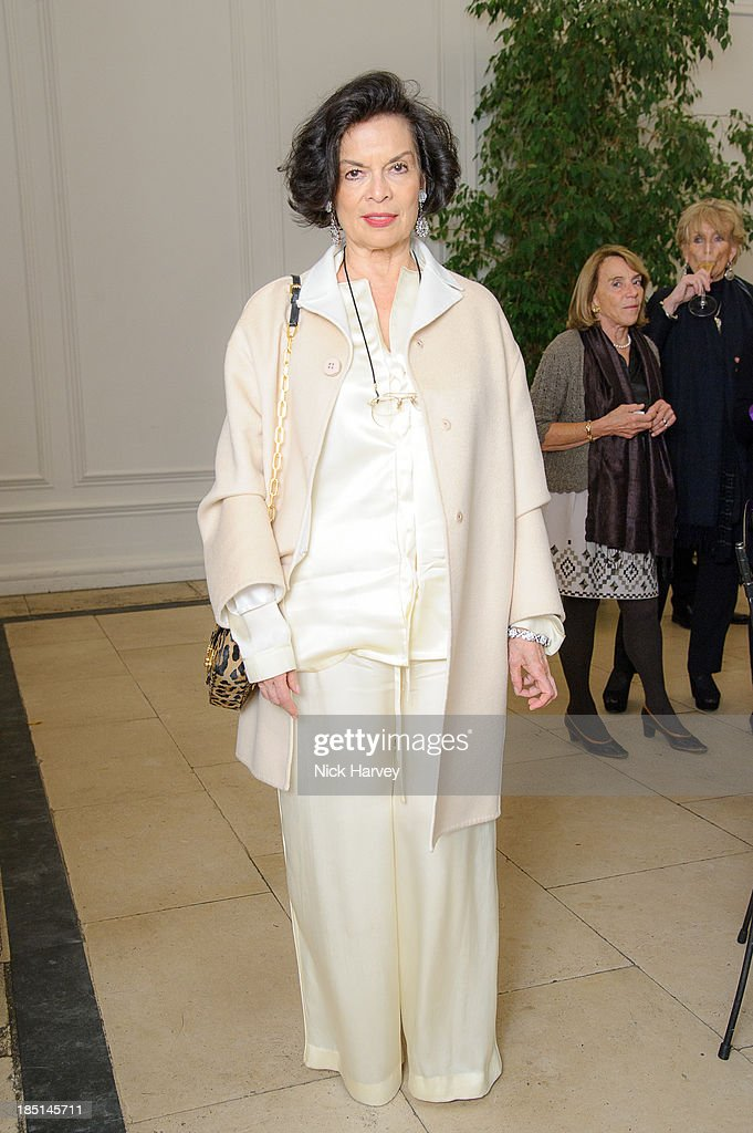 <a gi-track='captionPersonalityLinkClicked' href=/galleries/search?phrase=Bianca+Jagger&family=editorial&specificpeople=216047 ng-click='$event.stopPropagation()'>Bianca Jagger</a> attends the book launch party for 'The Queen Of Four Kingdoms' by Princess Michael of Kent at The Orangery on October 17, 2013 in London, England.