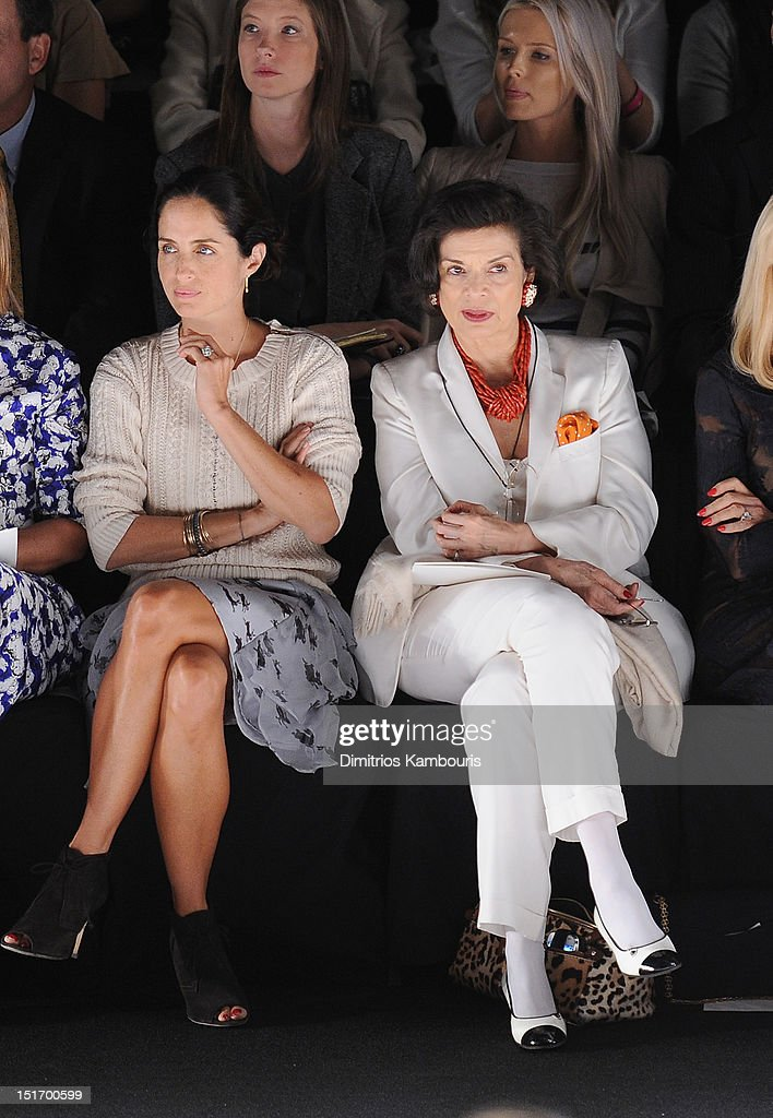 <a gi-track='captionPersonalityLinkClicked' href=/galleries/search?phrase=Bianca+Jagger&family=editorial&specificpeople=216047 ng-click='$event.stopPropagation()'>Bianca Jagger</a> attends the Carolina Herrera show during Spring 2013 Mercedes-Benz Fashion Week at The Theatre Lincoln Center on September 10, 2012 in New York City.