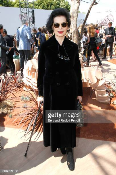 Bianca Jagger attends the Christian Dior Haute Couture Fall/Winter 20172018 show as part of Haute Couture Paris Fashion Week on July 3 2017 in Paris...