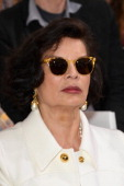 Bianca Jagger attends the Christian Dior show as part of Paris Fashion Week Haute Couture Fall/Winter 20142015 on July 7 2014 in Paris France